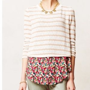 Anthropologie Postmark Double Layer Sweater Top M